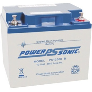 Power-Sonic PS-12380 Consumer Electronic Device, Security Device, UPS Backup, Medical Equipment, Portable Equipment, Power Tool, Emergency Lighting, Fire Alarm, Access Control System, Electrical Equipment Battery - 38000 mAh - Sealed Lead Acid (SLA) - 12 V DC - Battery Rechargeable