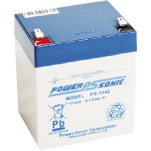 Power-Sonic PS-1242 Multipurpose Battery - 4500 mAh - Sealed Lead Acid (SLA) - 12 V DC - Battery Rechargeable