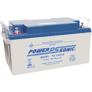Power-Sonic PS-12650 Multipurpose Battery - 65000 mAh - Sealed Lead Acid (SLA) - 12 V DC - Battery Rechargeable