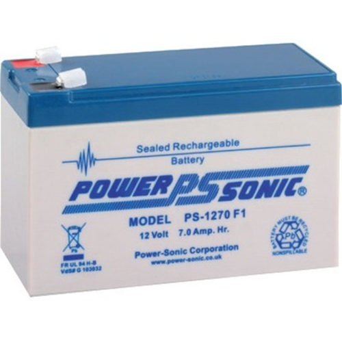 Power-Sonic PS-1270 Multipurpose Battery - 7000 mAh - Sealed Lead Acid (SLA) - 12 V DC - Battery Rechargeable - 1 Pack