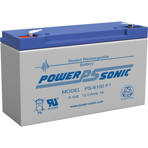 Power-Sonic PS-6100 General Purpose Battery - 12000 mAh - Sealed Lead Acid (SLA) - 6 V DC - Battery Rechargeable