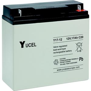 Yuasa Yucel Y17-12 Multipurpose Battery - 17000 mAh - Proprietary Battery Size - Lead Acid - 12 V DC - Battery Rechargeable