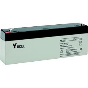 Yuasa Yucel Emergency Lighting, Fire Alarm, Smoke Alarm, Power Tool Battery - 2100 mAh - Lead Acid - 12 V DC - Battery Rechargeable