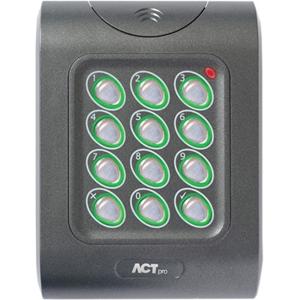 ACT ACTPRO 1050E Card Reader/Keypad Access Device - Door - Proximity, Key Code - Wiegand - 12 V DC - Flush Mount, Surface Mount