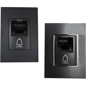 Genie FMD10 Biometric/Card Reader Access Device - Grey - Door - Fingerprint, Proximity - 1000 User(s) - Bluetooth - Wiegand - 24 V DC - Flush Mount
