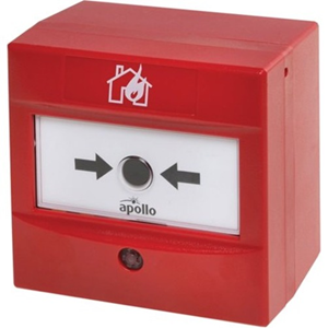 Apollo AlarmSense Manual Call Point For Fire Alarm - Red - Polycarbonate