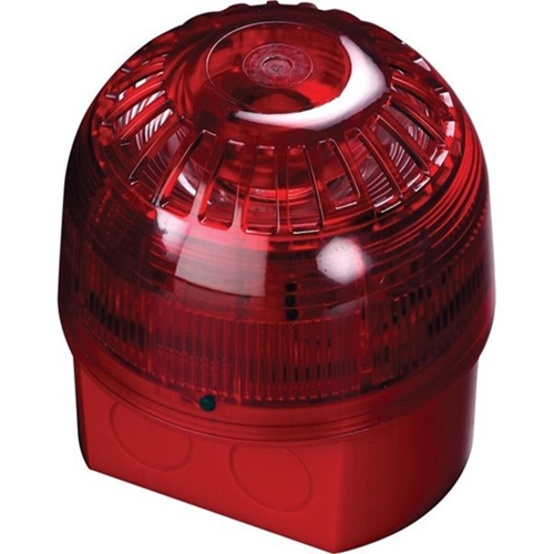 Apollo Alarmsense Horn/Strobe - 24 V - 99 dB(A) - Audible, Visual - Red
