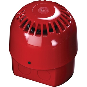 Apollo Alarmsense Security Alarm - 24 V - 99 dB(A) - Audible - Wall Mountable - Red