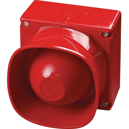Apollo Security Alarm - 2.4 V DC - 100 dB(A) - Audible, Visual - Wall Mountable - Red