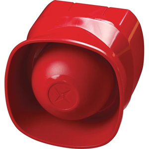 Apollo Security Alarm - 24 V DC - 100 dB(A) - Audible, Visual - Wall Mountable - Red