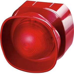 Apollo Security Alarm - 28 V DC - 100 dB(A) - Audible, Visual - Wall Mountable - Red, Red