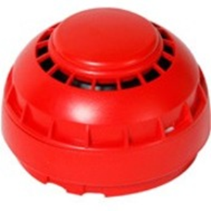 Fike TWINFLEX Hatari Security Alarm - Wired - 90 dB - Audible - Red