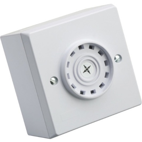 Eaton Askari Compact Security Alarm - 28 V AC - 97 dB - Audible - Flush Mount, Surface Mount - White