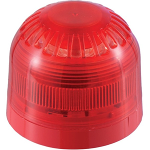 Klaxon Sonos Siren/Strobe - 60 V DC - 100 dB - Audible, Visual - Red