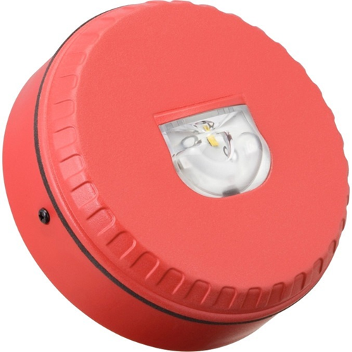 Fulleon Solista LX Security Strobe Light - 60 V DC - Visual - Wall Mountable - Red, Red