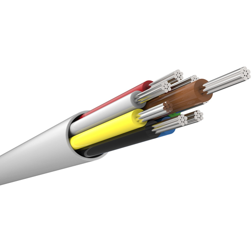 CQR Control Cable for Alarm - 100 m - Bare Wire - Bare Wire - White