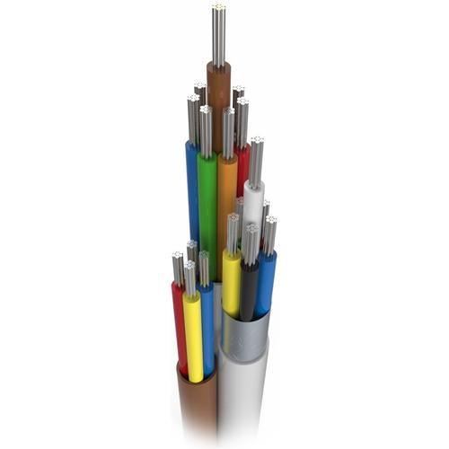 CQR Control Cable for Alarm - 100 m - Shielding - Bare Wire - Bare Wire - White