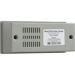 Bell Systems PS4 Power Supply - 230 V AC Input Voltage - 12 V DC Output Voltage - Wall Mount