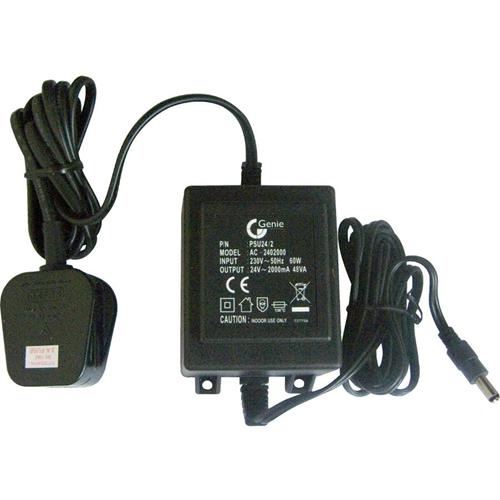 Genie PSU24/2 AC Adapter for CCTV Camera - 230 V AC Input Voltage - 24 V DC Output Voltage - 2 A Output Current