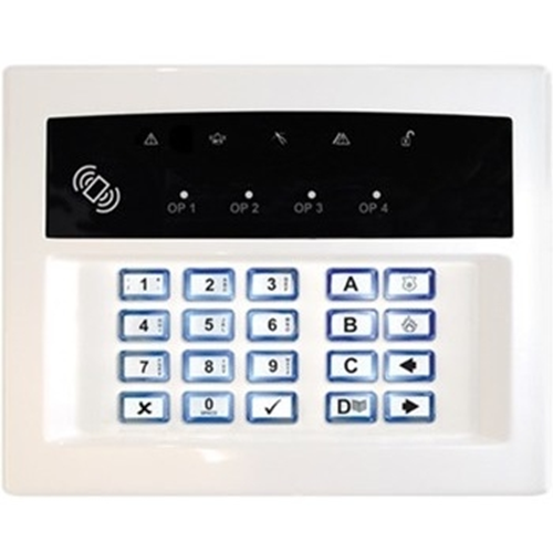 Pyronix Security Keypad - For Control Panel - White - Plastic