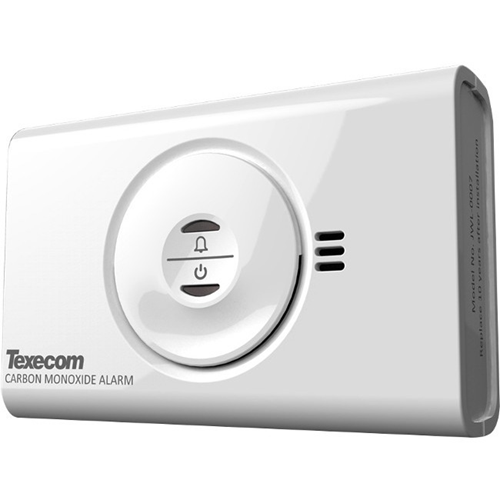 Texecom Premier Elite CO-W Gas Leak Sensor - Wireless - Carbon Monoxide - Gas Detection - 4 Year Battery - Alkaline
