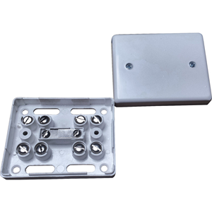 Knight Fire & Security J80 Mounting Box - Stainless Steel, High Impact Polystyrene (HIPS) - White