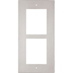 2N Faceplate - 2 x Total Number of Socket(s) - Nickel - Flush Mount, Wall Mount