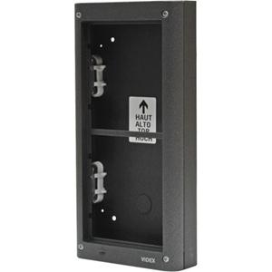 VIDEX Mounting Box - 2 x Total Number of Socket(s) - Acrylonitrile Butadiene Styrene (ABS) - Gun Metal Gray - Flush Mount, Surface Mount