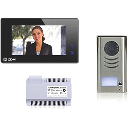 "CDVI CDV4791-B 17.8 cm (7"") Video Master Station - Touchscreen TFT LCD - Half-duplex - Door Entry"