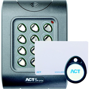 ACT ACT 5e Prox Card Reader/Keypad Access Device - Door - Proximity, Key Code - 50 User(s) - 1 Door(s) - 24 V DC - Surface Mount, Flush Mount, Standalone