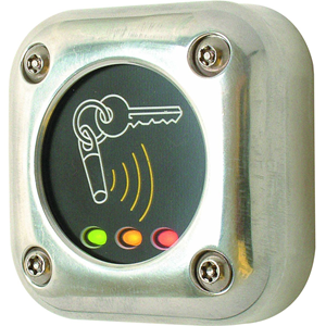 Paxton Access Card Reader Access Device - Chrome - Door - Proximity - 1 Door(s) - 12 V DC - Surface Mount