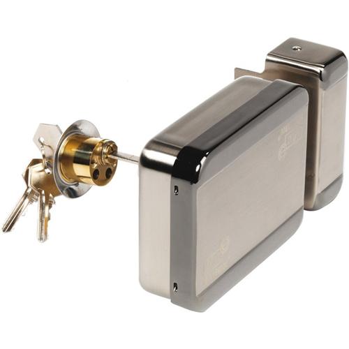 CDVI Diax MVA Electric Deadbolt - Surface-mountable for Indoor, Outdoor, Lock, Door, Security, Cage, Gate