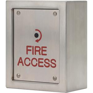 3E Firemans 3E0691-1 Push Button - Stainless Steel, Metal