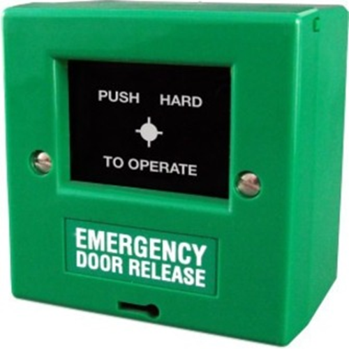 CQR FP2 Manual Call Point - Green - ABS Plastic, Polycarbonate, Glass