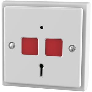 CQR EPA-STD Push Button - Single Gang - White - Acrylonitrile Butadiene Styrene (ABS)