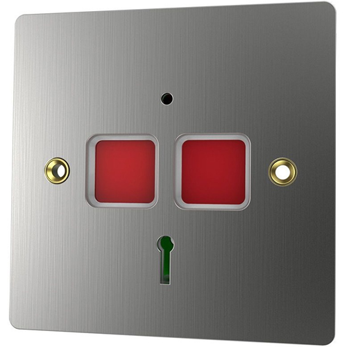 CQR EPA/STD SS Push Button - Single Gang - Stainless Steel - Stainless Steel, Acrylonitrile Butadiene Styrene (ABS)