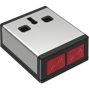 CQR DP3 Push Button - Stainless Steel, Black - Acrylonitrile Butadiene Styrene (ABS), Stainless Steel