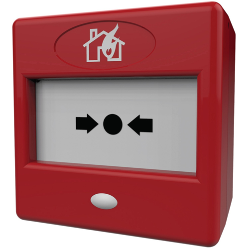 FireBrand FP3/RD Push Button For Fire Alarm - Red - Plastic, Glass