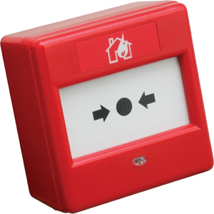 Fulleon Manual Call Point For Outdoor, Fire Alarm, Indoor - Red - Acrylonitrile Butadiene Styrene (ABS), Glass