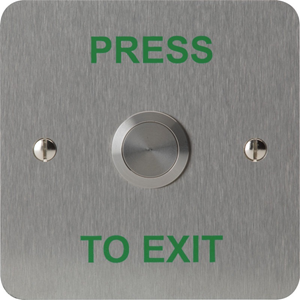 3E 3E0658N-1PTE Push Button - Single Gang - Stainless Steel - Stainless Steel