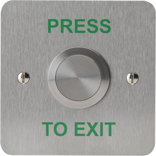 3E Push Button - Single Gang - Silver - Stainless Steel