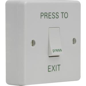 3E Push Button For Traffic - Single Gang - White