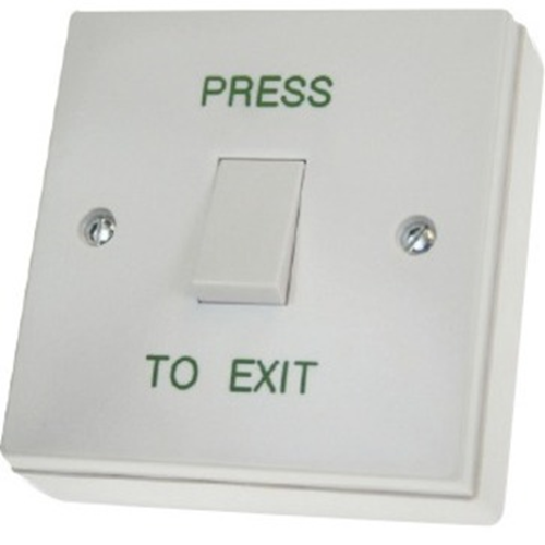 CDVI RTE001S Push Button - Single Gang - Plastic