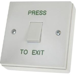 CDVI RTE001S Push Button - Single Gang - Plastic