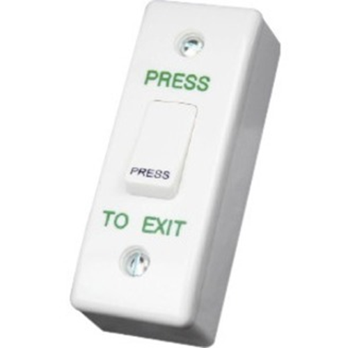 CDVI Push Button - Single Gang - Plastic, Stainless Steel