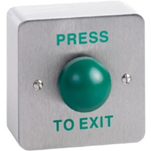 CDVI Push Button For Indoor, Outdoor, Traffic, Home - Green - Stainless Steel