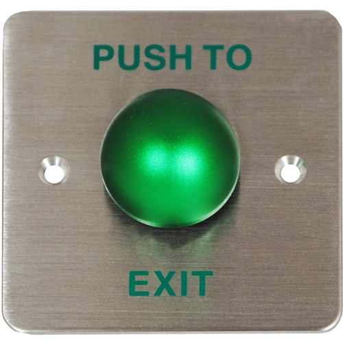 Genie GD-REX1 Push Button - Brushed Stainless Steel - Stainless Steel, Aluminium
