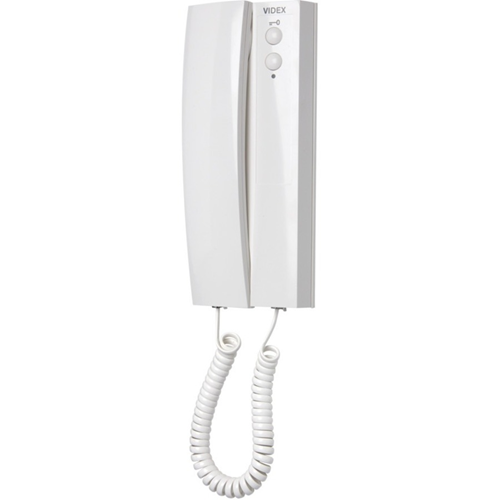 VIDEX Intercom Sub Station - for Door Entry - White - Desktop, Surface Mount