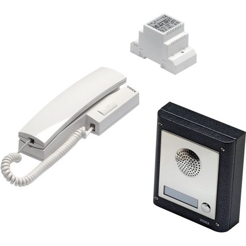 VIDEX Intercom System - for Door Entry - Stainless Steel, White - Cable - Surface Mount, Flush Mount, Wall Mount
