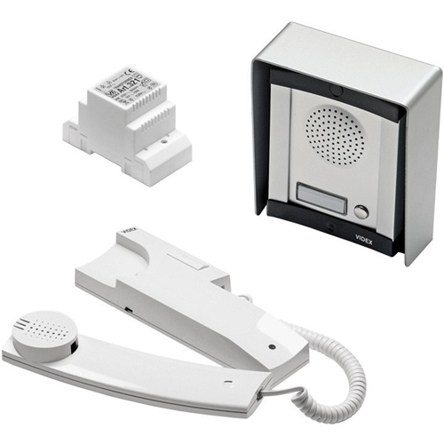 VIDEX Intercom System - for Door Entry - Stainless Steel - Cable - Surface Mount, Flush Mount